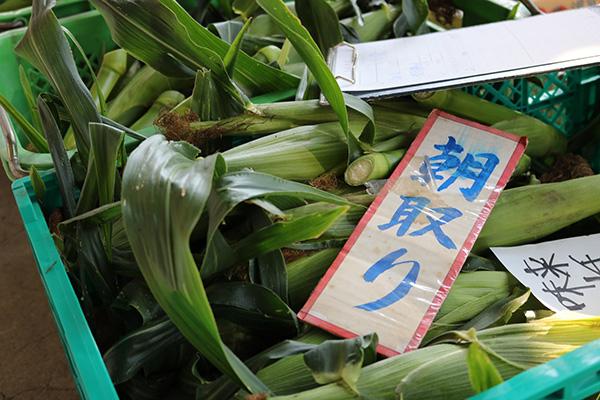こだわりの新鮮な野菜が市場に集まる