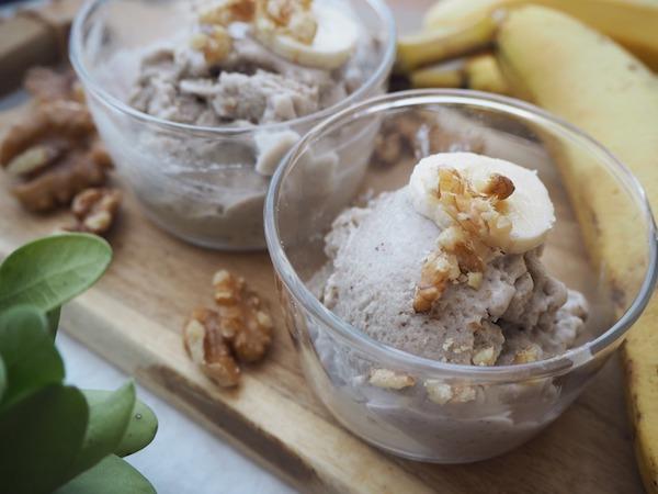 濃厚な味わい『ナッツとバナナのアイスクリーム』