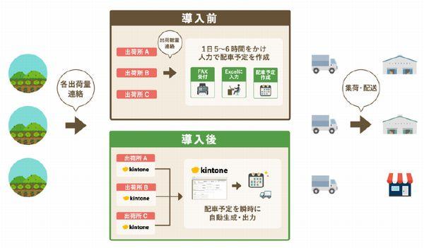 「有線放送代替システム」に続く、農業IT化推進の第二弾として、「出荷物の自動振り分けシステム」を構築する予定です