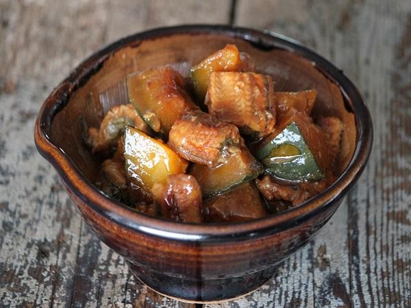 かぼちゃとうなぎで作る甘辛煮レシピ