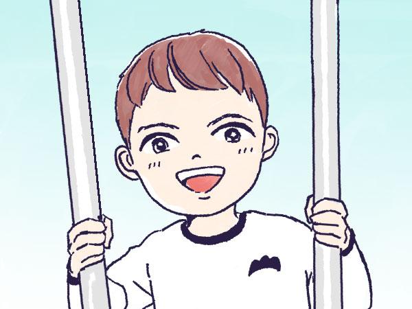 漫画「農家に憧れなかった農家の娘」第13話 小学生あるある~竹馬訓練~