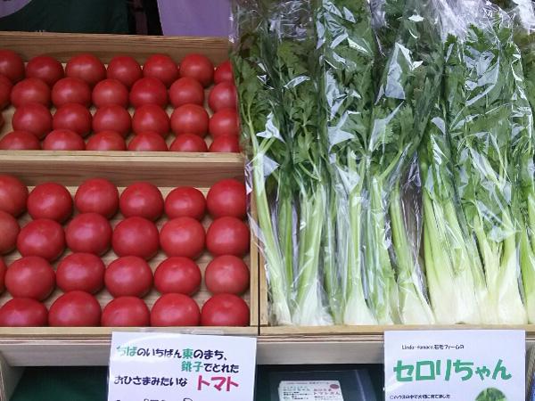 まんまるなトマトとセロリ