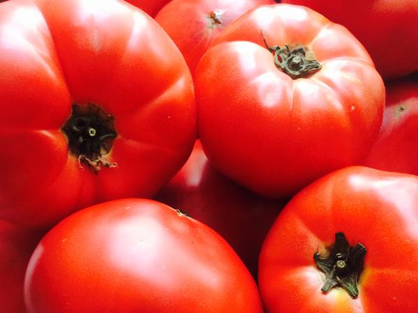 トマトの部分
