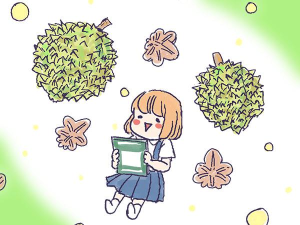 漫画「農家に憧れなかった農家の娘」第22話 果物の王様、夢のドリアン