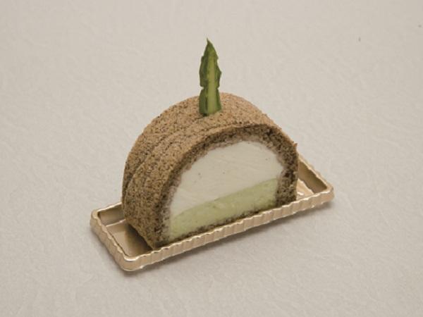 ルッコラゼリー&黒ゴマ豆乳ムース