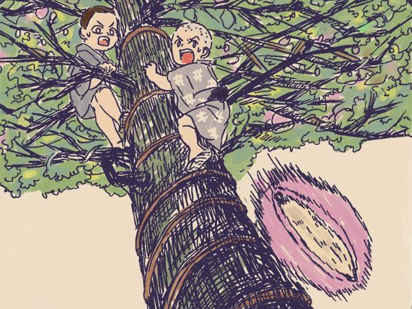 漫画「農家に憧れなかった農家の娘」第26話 昔の甘いおやつ、あけび