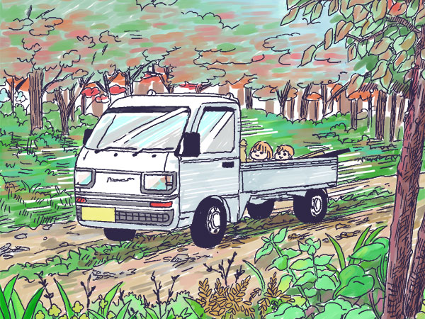 漫画「農家に憧れなかった農家の娘」第29話 いつでも活躍!農家の軽トラ