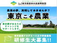 【令和2年1月7日締切】東京で農業!研修生大募集