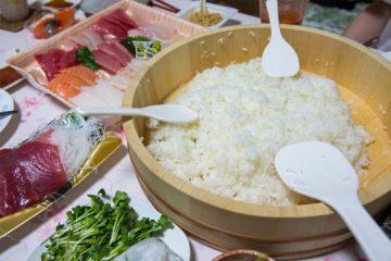 【ふるさと納税】関西特産米『キヌヒカリ』で、手巻き寿司パーティ!