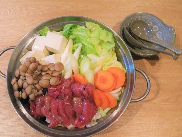 キジ肉の水炊き