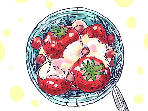 漫画「農家に憧れなかった農家の娘」第42話 ヘビイチゴの活用方法