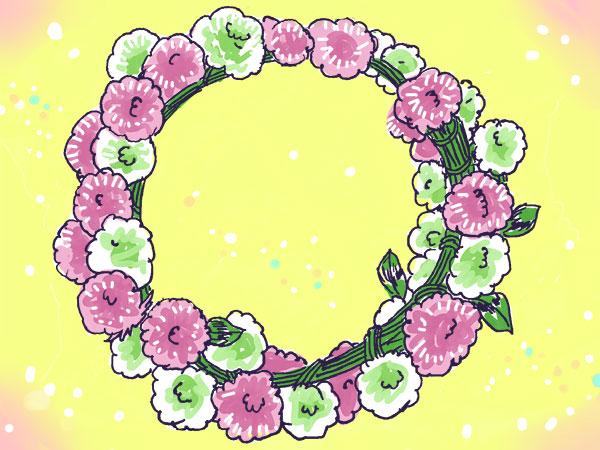 漫画「農家に憧れなかった農家の娘」第43話 レンゲとクローバーの花かんむり