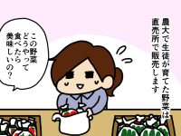 漫画「跡取りまごの百姓日記」【第14話】直売所の先生