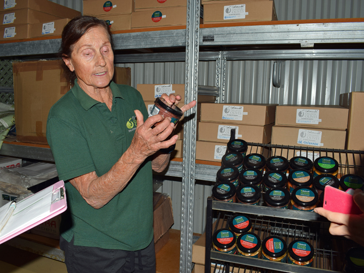 """Coolmunda employee """"Anne"""" – the company also turns its olives into a variety of processed goods"""
