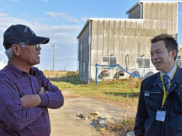双葉町の未来を笑顔で語る二人