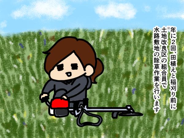 漫画「跡取りまごの百姓日記」【第41話】草刈り機のメンテナンス