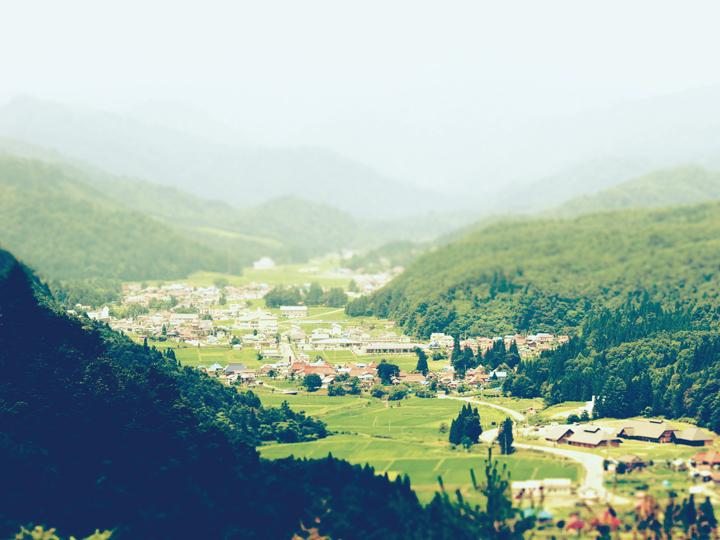 福島県昭和村の空撮