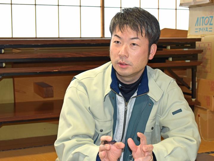 「昭和村役場 産業建設課 産業係」の山内康次さん