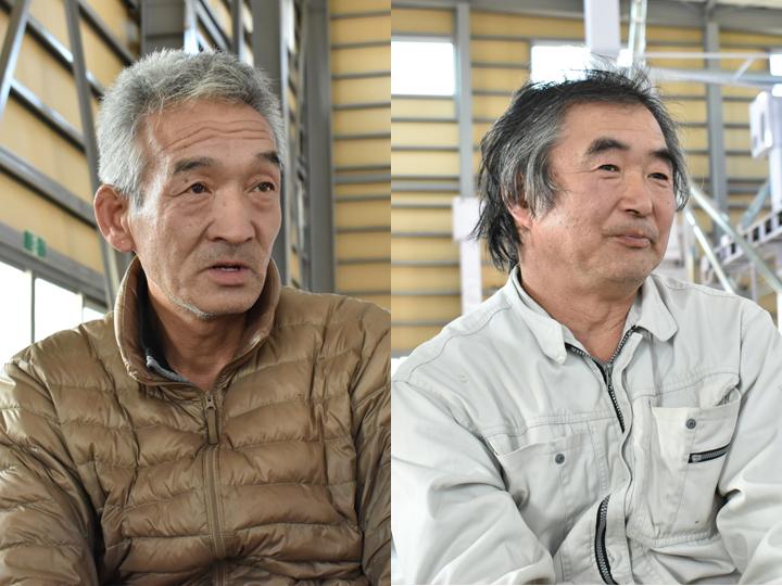 (左)同社取締役の小野内善彦さん (右)同社取締役の小島良金さん