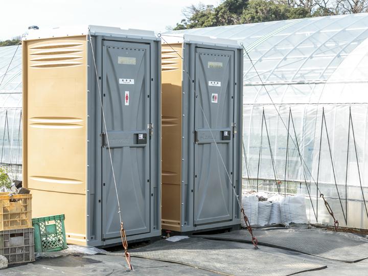 川名農園では2台導入。女性用と男女兼用で分けて使っている