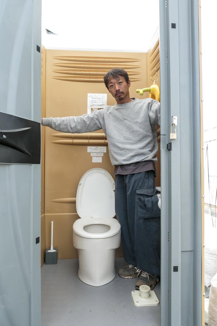 トイレの中は広々として、窮屈さを感じません