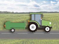 けん引タイプの作業機付きトラクターも公道走行可能に 条件やルールなどを解説