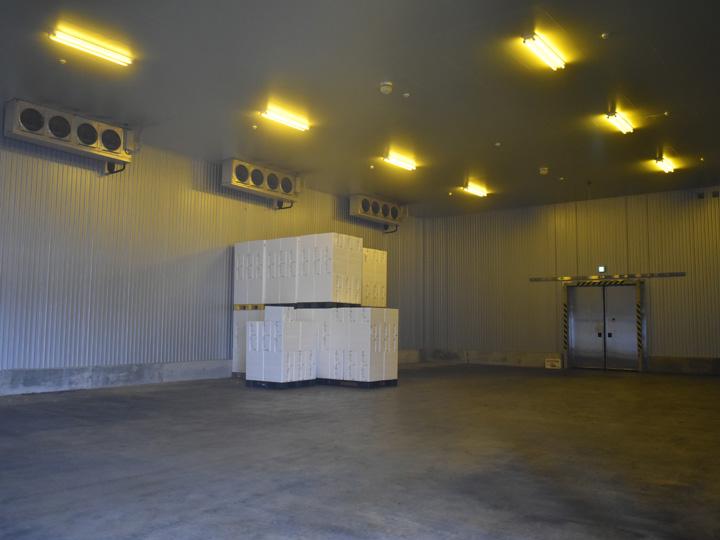 最新の冷蔵施設