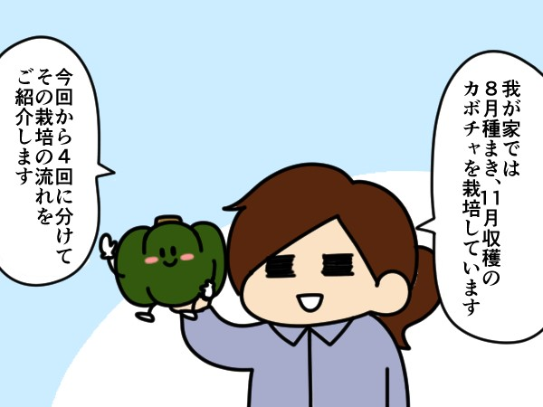漫画「跡取りまごの百姓日記」【第68話】カボチャの種まきのコツ