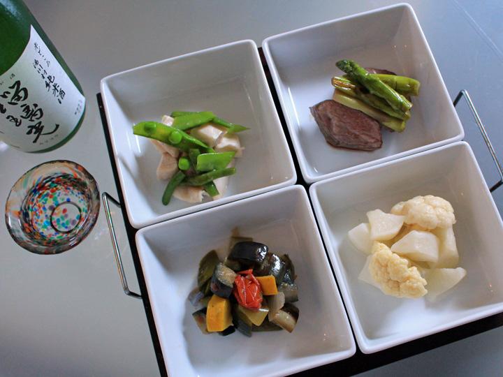 福島県湯川村。特産品を使用して作った料理。