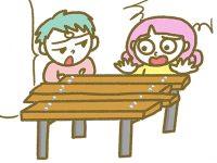 漫画「宮崎に移住した農家の嫁日記」【第125話】古材でテーブルセット制作