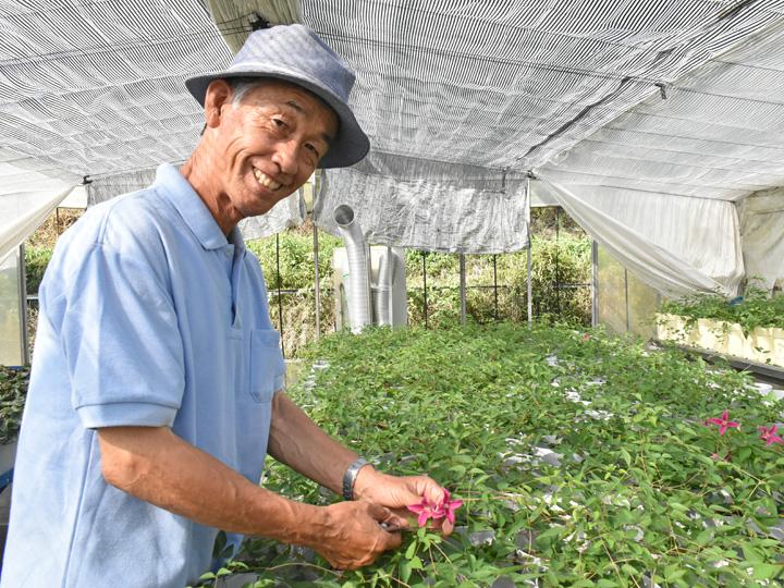 新規就農検討者へ笑顔でメッセージを送ってくれる高玉さん