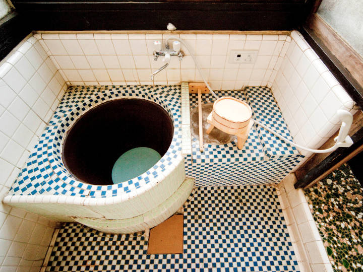珍しい五右衛門風呂