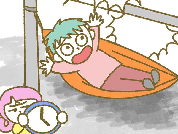 漫画「宮崎に移住した農家の嫁日記」【第129話】畑にハンモック