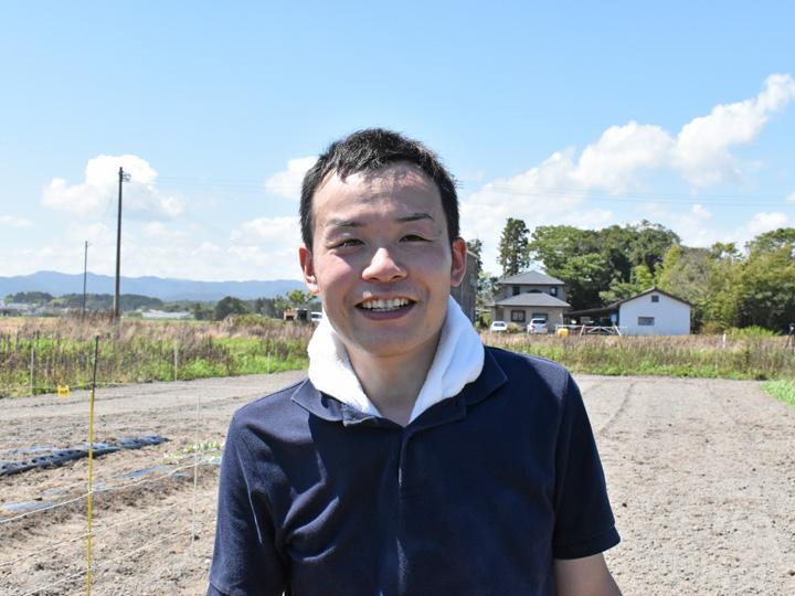2020年8月27日双葉町両竹地区で行われた試験栽培に参加した佐藤さん