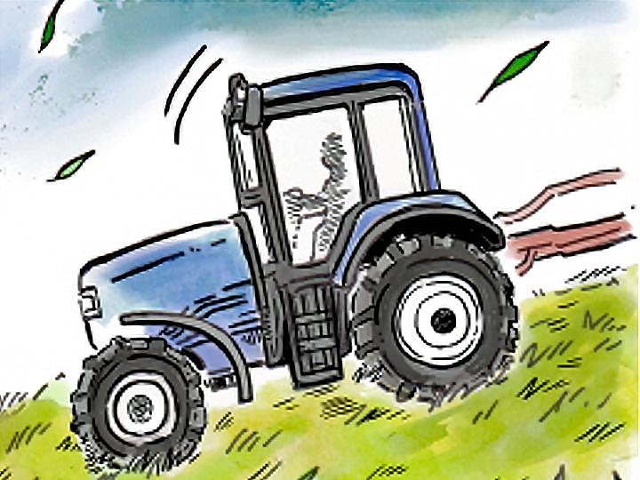 酪農漫画「うしだらけの日々」 第15話 牧草地の思い出