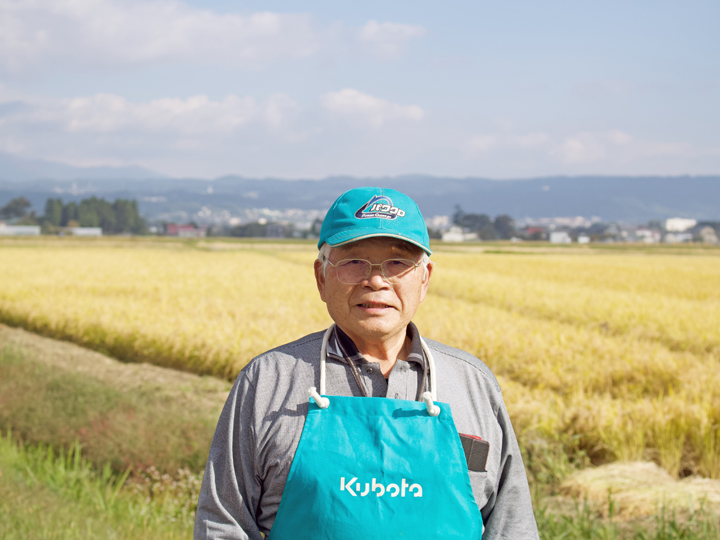 湯川村の米作りを牽引するリーダー的存在の髙橋勝昭さん