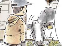 酪農漫画「うしだらけの日々」 第16話 まるで牛の栄養士!?