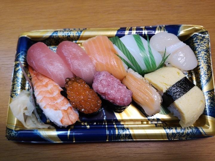 パック寿司の写真