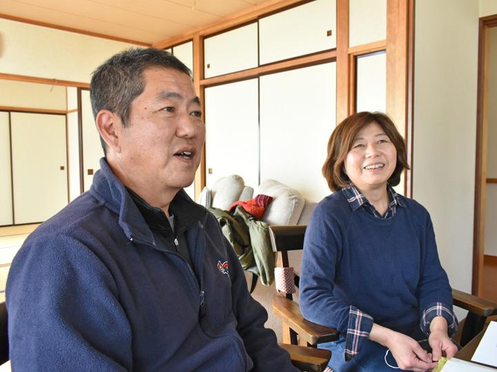 一関市東山町で2019年に神奈川県相模原市から移住し就農した竹内俊司さん・美由紀さん夫妻