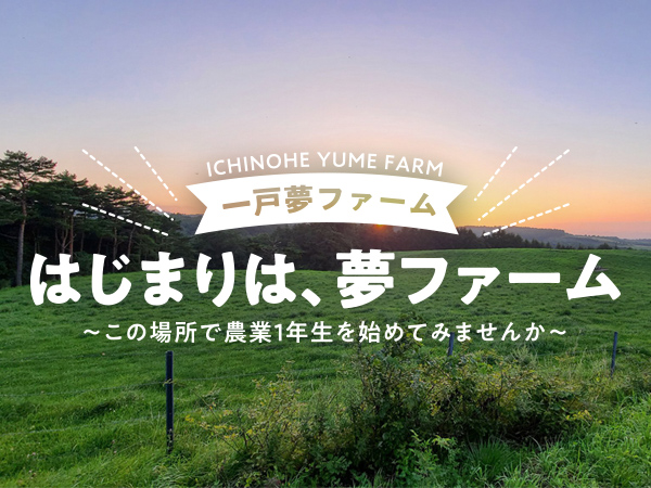 はじまりは夢ファーム~この場所で農業1年生始めてみませんか~