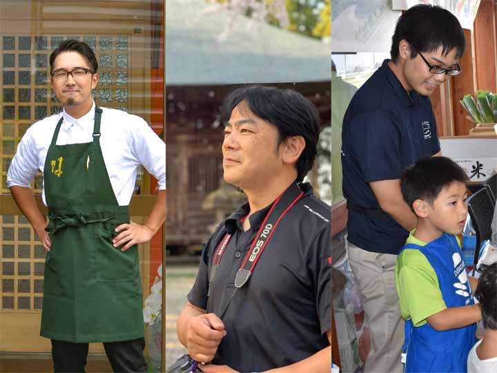 ゆがわ愛にあふれるゲスト3名。(左)岩沢さん (中)栗城さん (右)大越さん