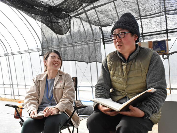 取材中にたくさんの笑顔をみせてくれた白岩さんと加藤さんからは信頼関係がうかがえます