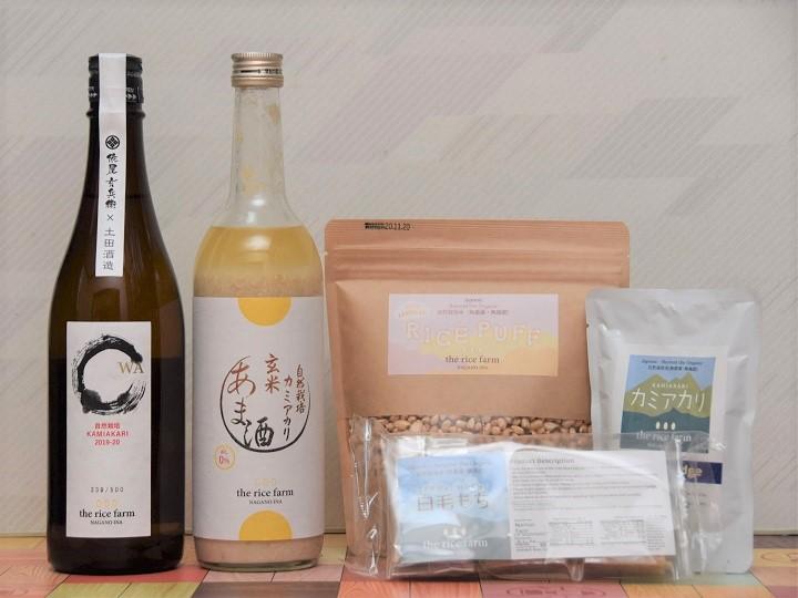 カミアカリの日本酒・甘酒など