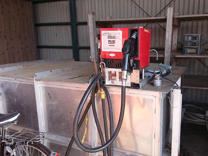 免税軽油専用のタンク