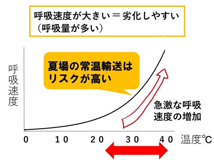 呼吸と温度の関係