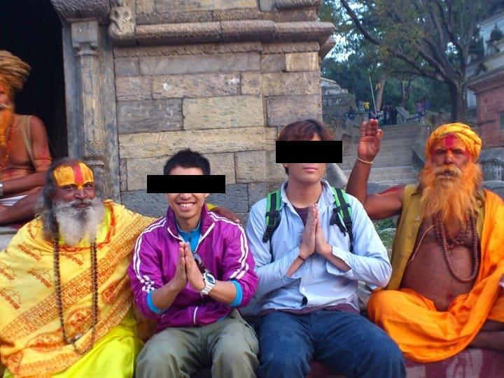 ネパール旅行での写真