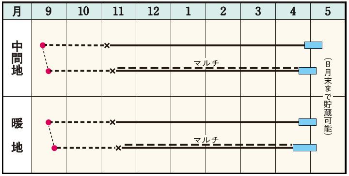 ボルト適期表